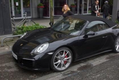 Hopping in (brand new Porsche 911 4S convertible)
