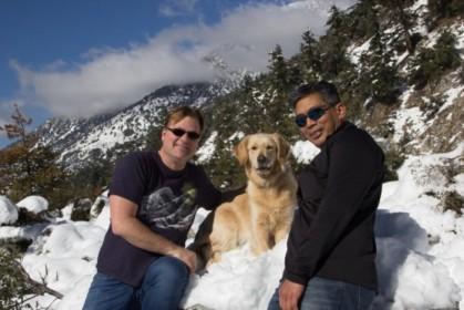 Christopher, Nyla, and Burt, angle 1