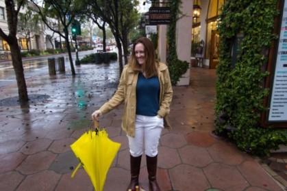 Umbrella down, for the moment