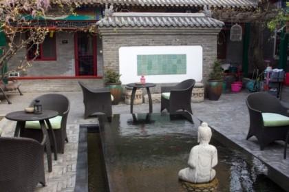 Pool with koi
