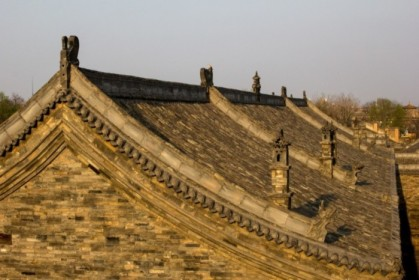Typical Pingyao roof