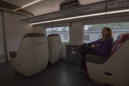 Business class on the high speed train