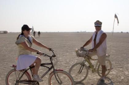 Cruising the playa