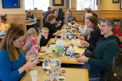 Chowing at Culver's