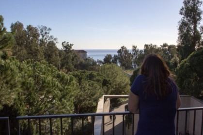 Gazing out at the Getty Villa