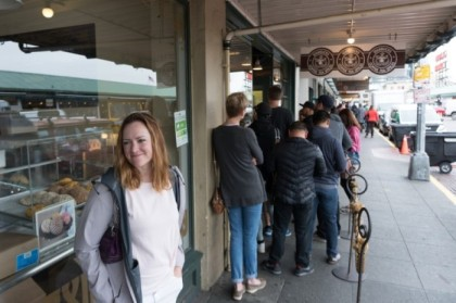 Doing a walk-by of the original Starbucks