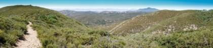 Trail cutting through