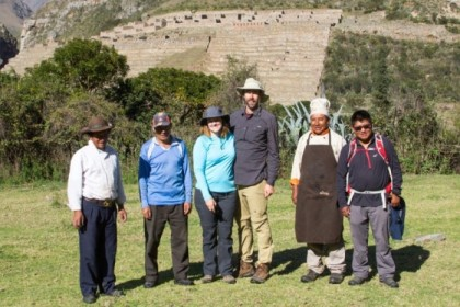 Our trekking crew - two horsemen, two tourists, one chef, and one guide