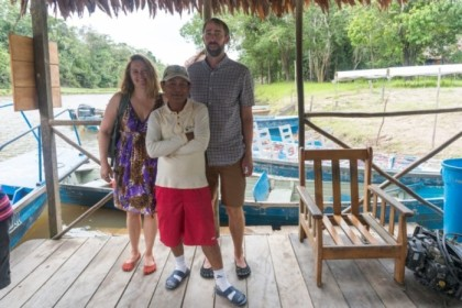 Stacy, Moises, and me on the dock
