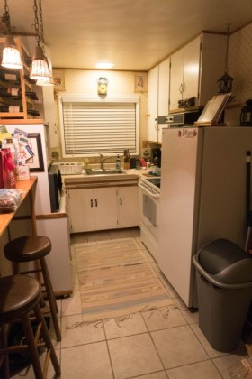 The nice but small kitchen
