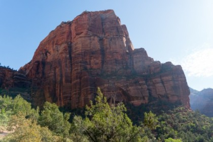 Angel's Landing from the valley floor