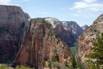 Looking back at Angel's Landing