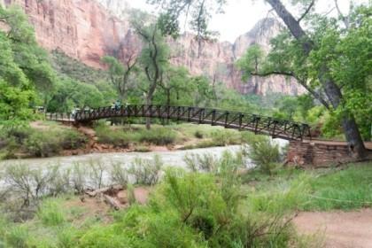 Bridge leading to the Emerald Pools