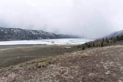 Fish Lake, still pretty icy