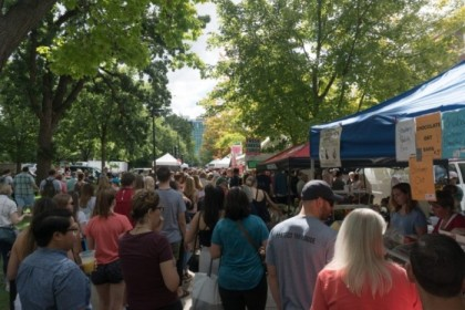 Farmer's market on Saturday