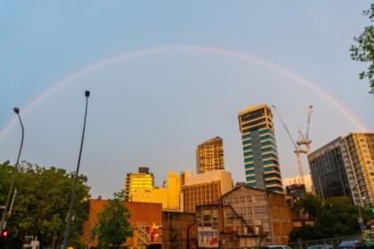Rainbow over Auckland