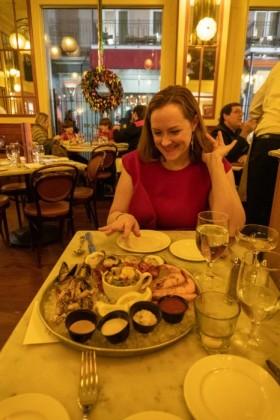 Seafood platter appetizer at Bourbon House