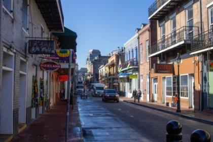 Bourbon Street in the harsh light of morning