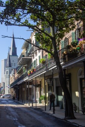 Chartres Street in the French Quarter