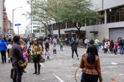 Post-parade street chaos