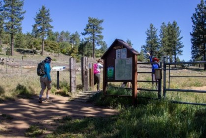 Embarking on Sunset Trail, from the Meadows Trailhead