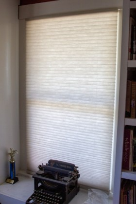 The outgoing office blind