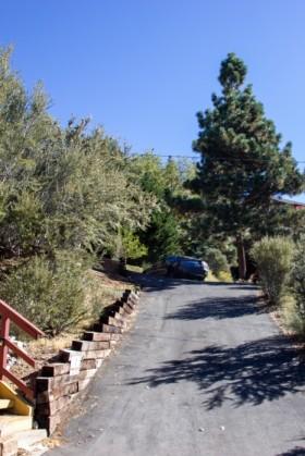 A very steep driveway