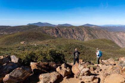At the top of Garnet Peak