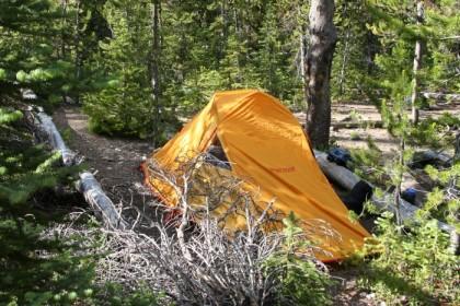 Tent assembled