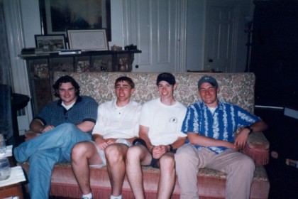 James, me, Randy, and Doyle at Doyle's house