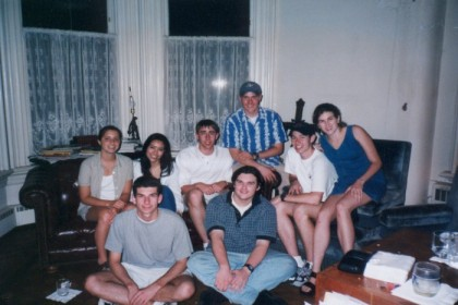 Barlo, Nicole, me, Doyle, Randy, Liz, Charlie and James at Doyle's house