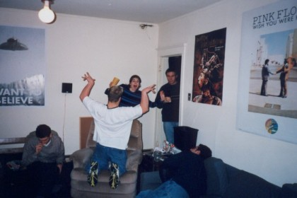 Charlie, Brian, Liz, Doyle, and Jeremy