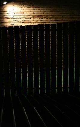 Backlit fence