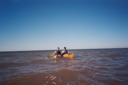 Doyle and me in our kayaks