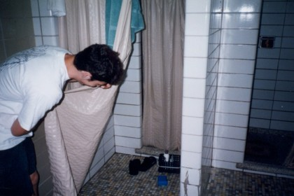The mysterious shower: is there really anybody in there?