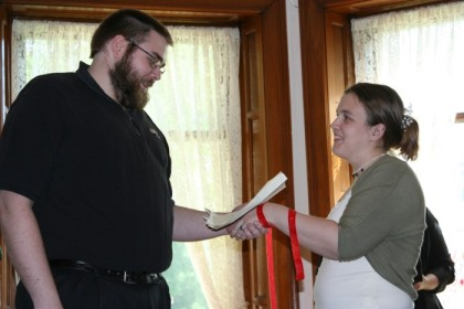 Lucas begins his vows