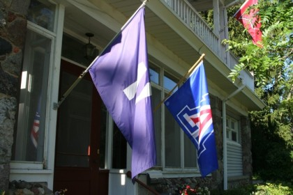 NU and U of A flags