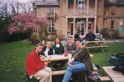 Ryan, Spike, Barlo (shown yawning), me and Mark in Bath