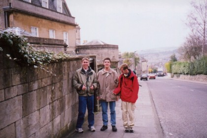 Me, Mark, and Ryan in Bath