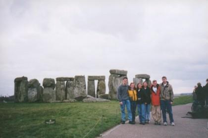 Mark, Chryssi, Spike, Barlo, Ryan and me at Stonehenge