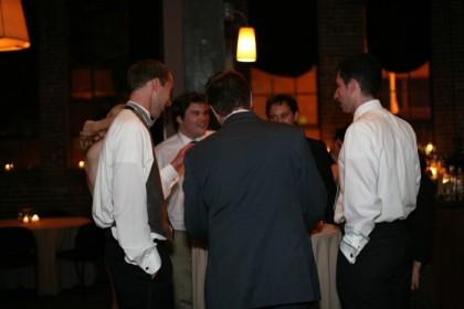 Drinking buddies at the bar