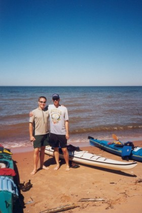 Doyle and me with our kayaks