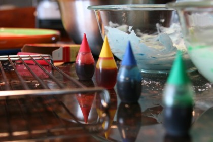 Little food coloring gnomes