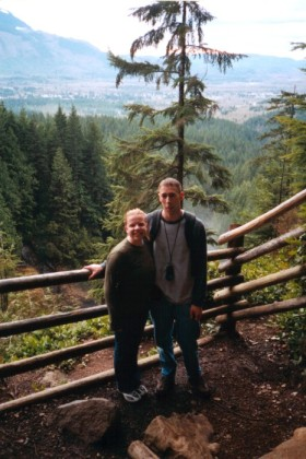 Me and Chryssi on the trail at Wallace Falls