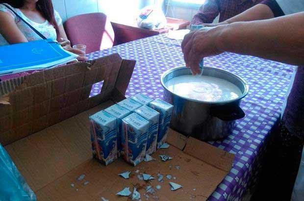 """Öğrenciler için dağıtılan sütlerle yoğurt yapılan okulun müdürü itiraf etti: """"Üzümlerle de hoşaf yaptık..."""""""