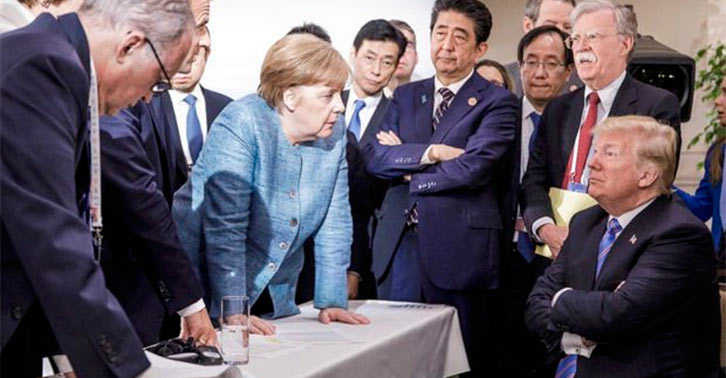 """""""Dünya Kıraathaneleri"""" fikrine sıcak bakmayan Donald Trump, G7 zirvesinde büyük tepki çekti..."""