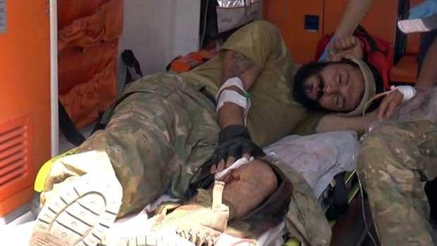 Cerablus'a yapılan operasyon sırasında yanlışlıkla vurulan IŞİD militanı Gaziantep Devlet Hastanesine kaldırıldı.