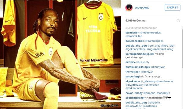 Instagram sayfasında ikinci GS formalı fotoğrafını paylaşan Snoop Dogg'un Galatasaray'la hangi konuda anlaştığı gizemini koruyor...