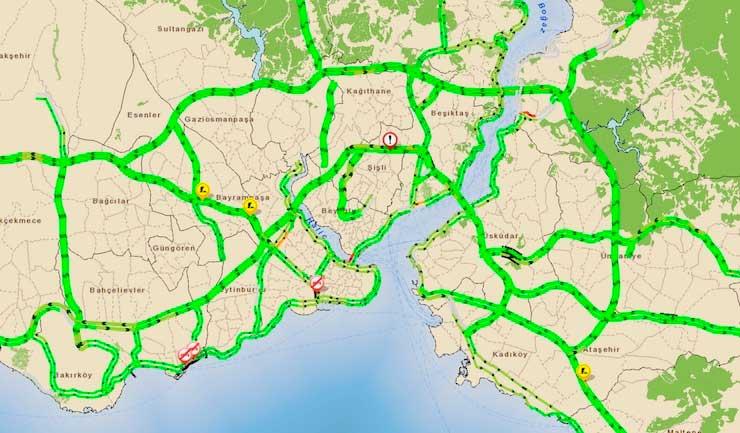 Terörle çözülen tek mesele, yine İstanbul'un trafik sorunu oldu...