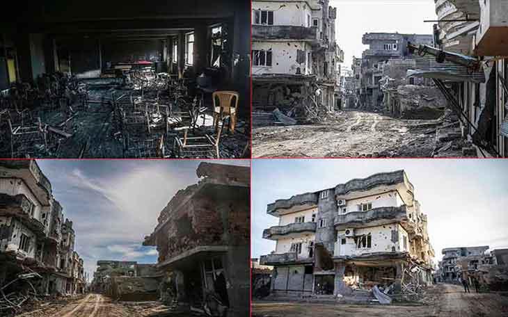Davutoğlu'nun Cizre'yi huzura kavuşturduk söyleminden sonra gözler vatansever müteahhitlere çevrildi.